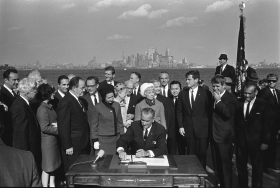 Immigration and Nationality Act of 1965 Signing