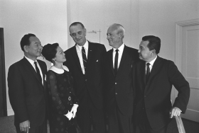 President Lyndon B. Johnson and Hawaiian Politicians