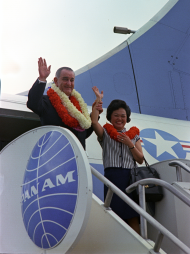 President Lyndon B. Johnson and Patsy Takemoto Mink