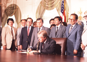 Commission on Wartime Relocation and Internment of Civilians Act Signing