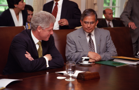 President William J. (Bill) Clinton and Robert A. Underwood