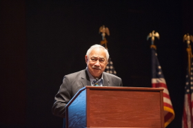 Eni F. H. Faleomavaega Speaking at a Congressional Asian Pacific American Caucus Meeting
