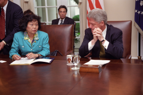 Patsy Takemoto Mink and President William J. (Bill) Clinton
