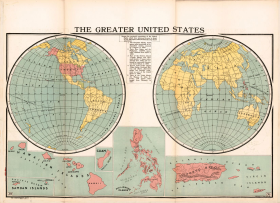 1919 Map of the United States and Territories