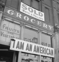 """I Am an American"" Sign"