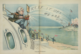 """Wireless Telegraphy"" Political Cartoon"