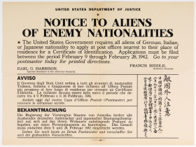 Notice to Aliens of Enemy Nationalities