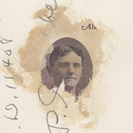 Mystery image on the reverse of a photograph