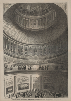 Interior of the New Dome of the Capitol at Washington