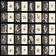 Composite Image of Photos with Mystery Men on the Reverse