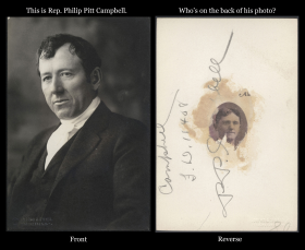 Philip Pitt Campbell Photo, Front and Reverse