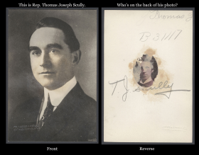 Thomas Joseph Scully Photo, Front and Reverse