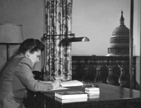 Consultant in Poetry Elizabeth Bishop Writing with a View of the Capitol