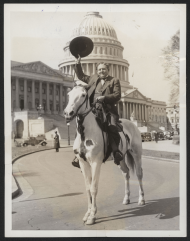 Percy Gassaway on a Horse by the Capitol