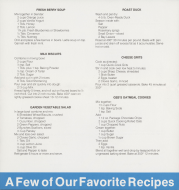 "<i>""A Few of Our Favorite Recipes""</i>"
