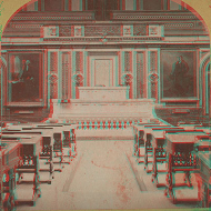 Anaglyph Version of House Chamber Stereoview