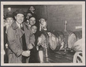 John Philip Hill Siphoned a Drink from a Cask for Party Guests
