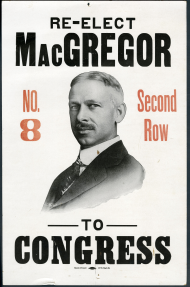 Clarence MacGregor Campaign Poster