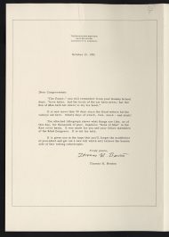 Letter from Artist Thomas Hart Benton