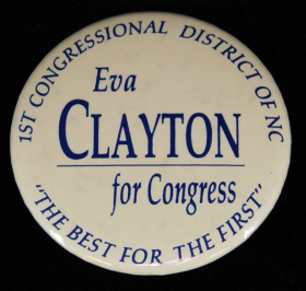 Eva Clayton Campaign Button