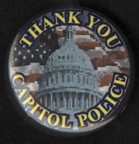 """""""Thank You Capitol Police"""" Lapel Pin"""
