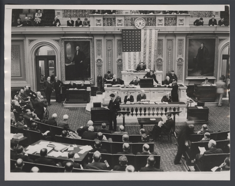 The House Chamber During Debate