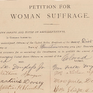 Petition for Woman Suffrage