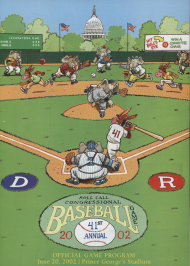 2002 Program for the Congressional Baseball Game