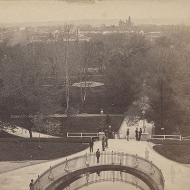 West from the Capitol Stereoview