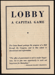 Lobby: A Capital Game Instructional Booklet