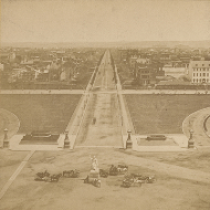 Looking East from the Capitol Stereoview