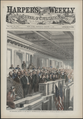 House Press Gallery in March 1868