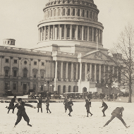 Snowball Fight at the Capitol!