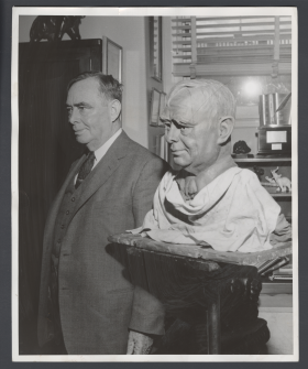 Joseph Martin and Clay Model of Bust
