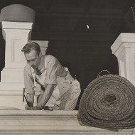 Installing New Carpet in 1938