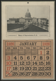 House of Representatives Wall Calendar