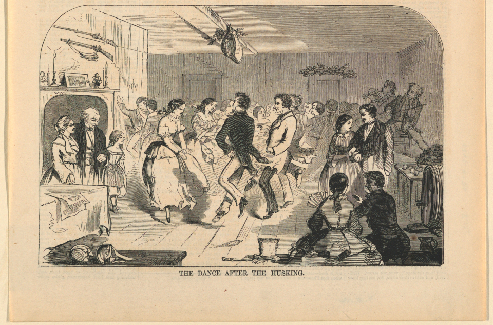 The Dance After the Husking Print