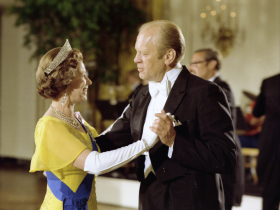Queen Elizabeth Dancing with President Ford in 1976