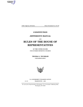 Rules of the House of Representatives