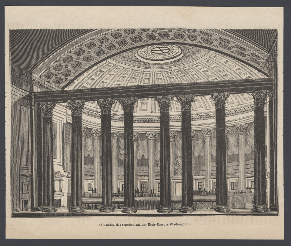 Print of the House Chamber in 1836