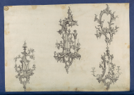 Girandoles, in Chippendale Drawings, Vol.1, Thomas Chippendale, 1760