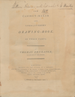The Cabinet-Maker and Upholsterer's Drawing-Book in Three Parts, Thomas Sheraton, 1793