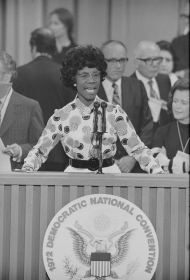 Chisholm at the 1972 Democratic National Convention