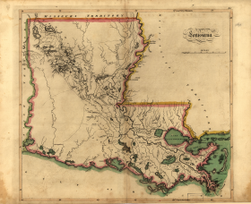 1814 Map of Louisiana