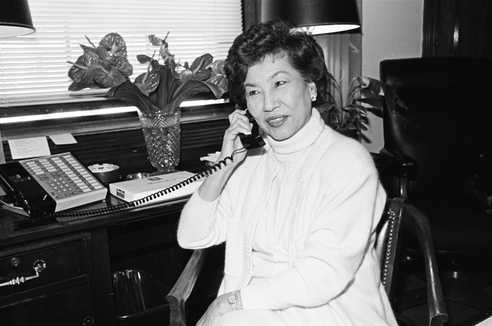 Representative Patricia Saiki of Hawaii