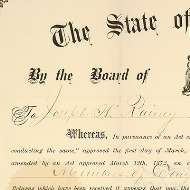 Joseph Rainey Certificate of Election