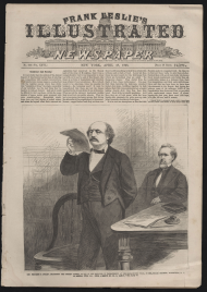 Representative Benjamin Butler Delivers the Opening Speech at the Impeachment Trial of President Andrew Johnson