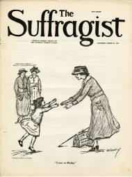 March 1917 Cover of The Suffragist