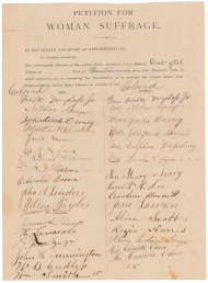 Petition for Woman Suffrage in 1878