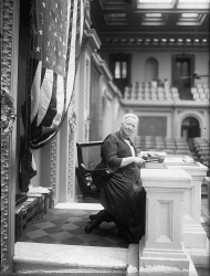 Representative Alice Robertson sits on the rostrum in the House Chamber